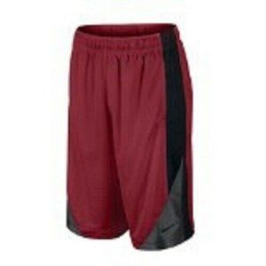 Nike Boy's Basketball Shorts Red with Black Size M